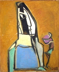 autoportrait à la tulipe by reynold arnould