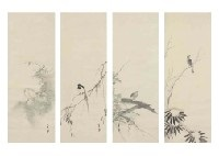 flowers and birds in the seasons (4 works) by gaho hashimoto