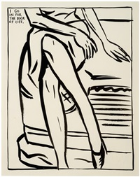 untitled (i go in for the book of life) by raymond pettibon