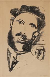 l'homme aux favoris by marc chagall