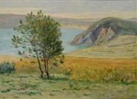 premières lueurs du matin, les falaises de morgat by maxime maufra