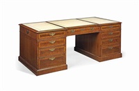 partners' pedestal desk by arthur brett