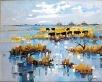 les taureaux en camargue by roger quintaine