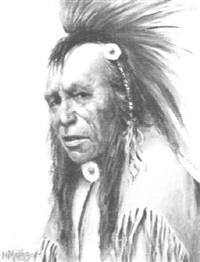 silver bird, a cree indian by henry metzger
