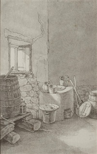 a kitchen interior by john white abbott