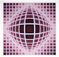 louisiana i & ii (2 works) by victor vasarely
