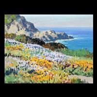 wild flowers - carmel coast by carl sammons