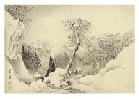 landscape with snow by hogai kano