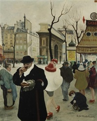 paris, scène de rue by gaston lebeuze