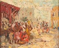 vue du marché de djibouti by adrien jean le mayeur de merprés