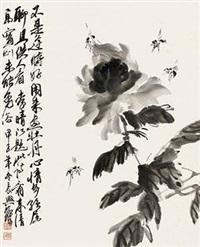 墨笔牡丹 by huang zhou