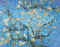 almond blossom by vik muniz