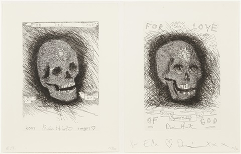 for the love of god beyond belief 2 works by damien hirst