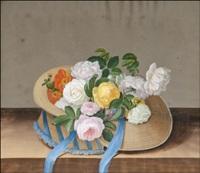 ruusu-asetelma (still life with roses) by johann samuel arnhold