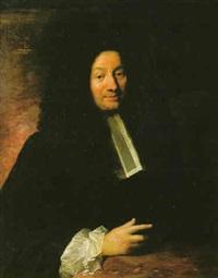 portrait d'un homme de loi accoudé à une table by jacques autreau