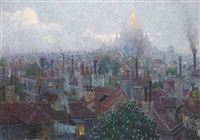 view of the sacre coeur from montmartre, paris by rudolf quittner