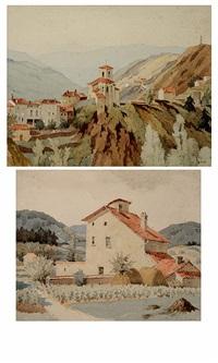 rochetaillée (loire); vieille ferme â blacé (rhöne) (pair) by adolphe valette