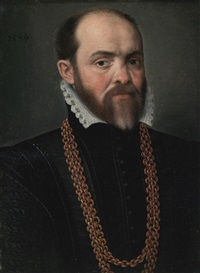 portrait of a man with a necklace by flemish school (16)