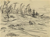 north pine / landscape (verso) by alexander young