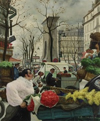 paris, le retour des halles porte saint-denis by gaston lebeuze
