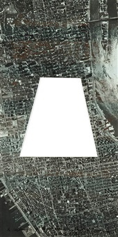 a rectangle of manhattan without a trapezoid by sol lewitt