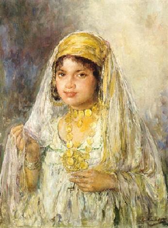Jeune fille au collier dor par Edouard Verschaffelt sur artnet 2935337c9c2