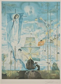 the discovery of america by christopher columbus by salvador dalí
