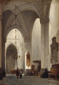 the grote kerk, breda by johannes bosboom