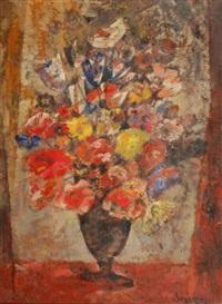 vase de fleurs by albert saverys