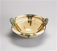 a large sprung-base bowl by takeshi yasuda