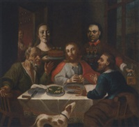 the supper at emmaus, with two donors by austrian school-tyrolean (17)