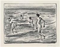 badende jungen by max liebermann