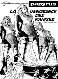 papyrus (cover for album la vengeance des ramsès) by lucien de gieter