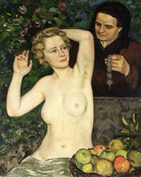 a portrait of the artist's wife sorella by bart peizel