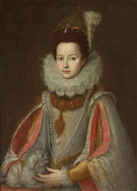 porträt der isabella von savoyen by sofonisba anguissola