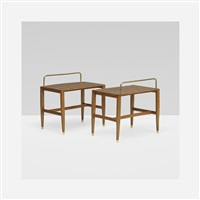 pair of stands from the royal hotel, naples by gio ponti