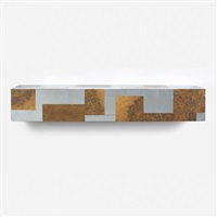 wall-mounted cityscape console by paul evans