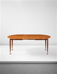 unique extendable dining table, designed for a villa, liguria by gio ponti