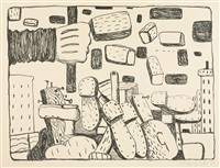 the street (from ten lithographs by ten artists) by philip guston