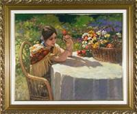une fille romantique by littorio del signore