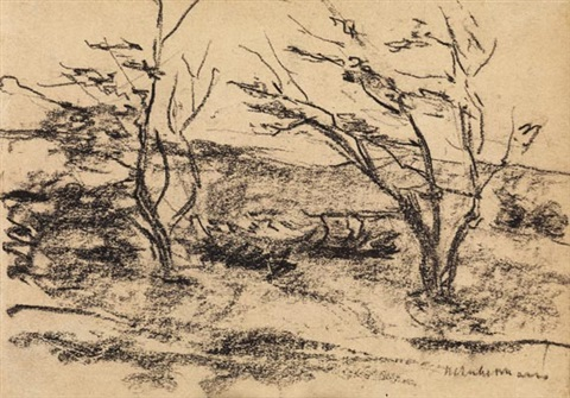 bäume im wind by max liebermann