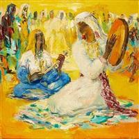 musiciennes (orientaliste) by paul daxhelet