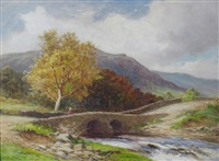 a river landscape (+ another; pair) by john bates noel
