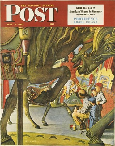 the saturday evening post (4 works) by norman rockwell