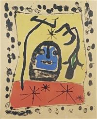 affiche pour rxposition à la galerie matarasso, nice by joan miró