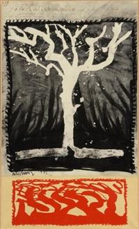 l'arbre de monsieur brandmuller by pierre alechinsky