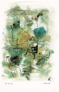 abstrakte komposition by rolf cavael