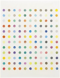 untitled f (spot drawing) by damien hirst