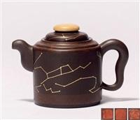 绞泥彩云追月壶 (a teapot) by bao zhongmei