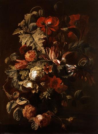 blumenstillleben mit tulpen by simon pietersz verelst